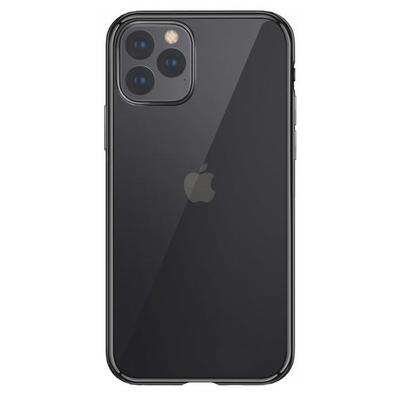 2x Husa de Silicon Transparenta iPhone, Rama Neagra XS Max - Trendmobile