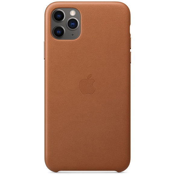 Husa Apple Leather Case Saddle Brown pentru iPhone 11 Pro MAX