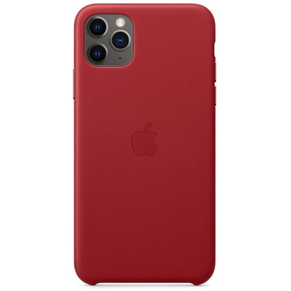 Husa Apple Leather Case Red pentru iPhone 11 Pro MAX