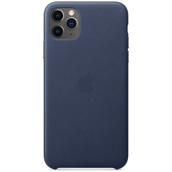 Husa de Piele Apple iPhone 11 Pro Max Leather Case Midnight Blue