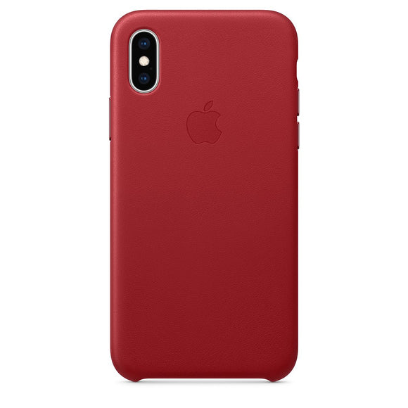 Husa Apple Leather Case Red  pentru iPhone X / XS