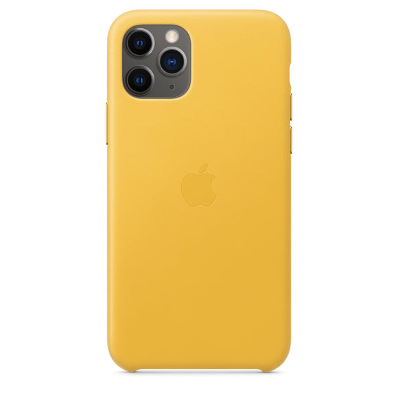 Husa de Piele Apple iPhone 11 Pro Leather Case Meyer Lemon