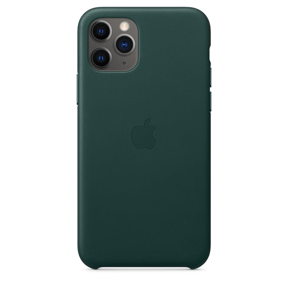 Husa de Piele Apple iPhone 11 Pro Leather Case Forest Green