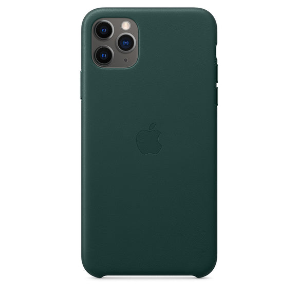 Husa de Piele Apple iPhone 11 Pro Max Leather Case Forest Green