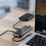 Adaptor HUB Baseus Multifunctional, Apple Macbook, Type C + 4 x USB 2.0, Gri - Trendmobile