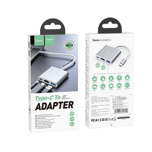Adaptor Macbook HB14 Easy use Type-C adapter(Type-C to USB3.0+HDMI+PD) - Trendmobile