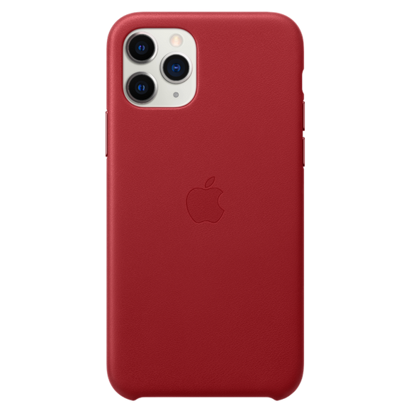 Husa Apple Leather Case Red  pentru iPhone 11 Pro
