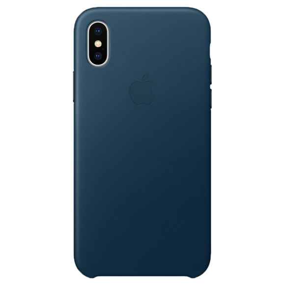 Husa  Apple  Leather Case Cosmos Blue pentru iPhone X/XS