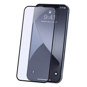 Baseus 2x Full screen 0,23 mm Anti Blue Light tempered glass with a frame iPhone 12 Pro Max Black