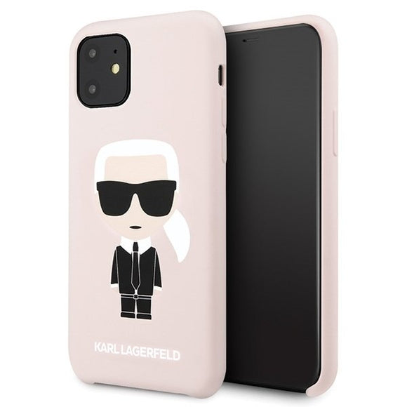 Husa Karl Lagerfeld iPhone 11 hardcase light pink Silicone Iconic