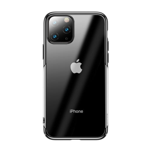 Husa Baseus Glitter Transparent Electroplating Cover for iPhone 11 Pro Max black