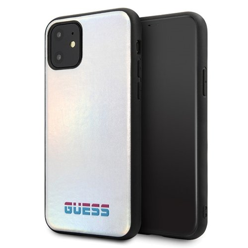 Husa Guess iPhone 11 silver hard case