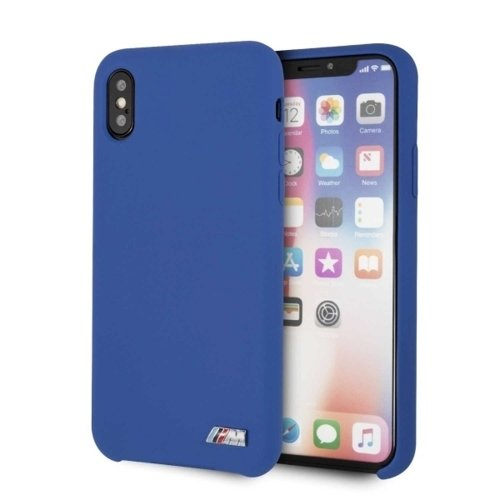 Husa BMW iPhone X /Xs Navy Silicone M Collection