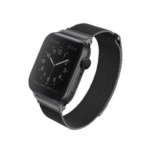 Curea ceas UNIQ pasek Dante Apple Watch Series 4 40MM Stainless Steel Negru