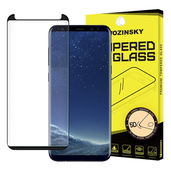 Folie de sticla Wozinsky Tempered Glass 5D  pentru Samsung Galaxy S8 Black - Trendmobile