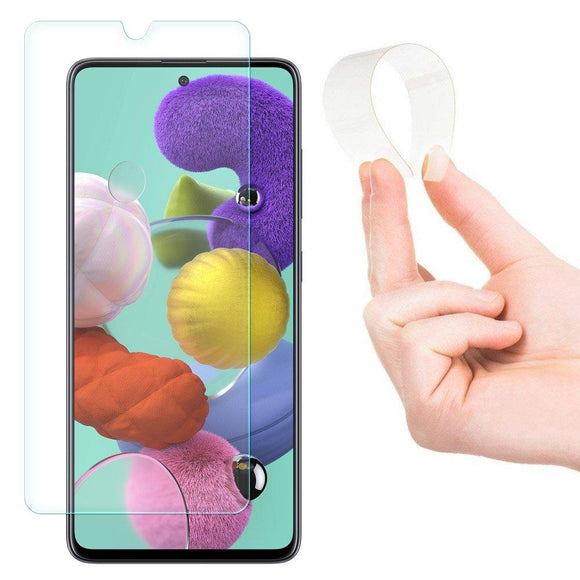 Folie Nano Flexi Glass Hybrid Screen Protector Tempered Glass for Samsung Galaxy A71 - Trendmobile