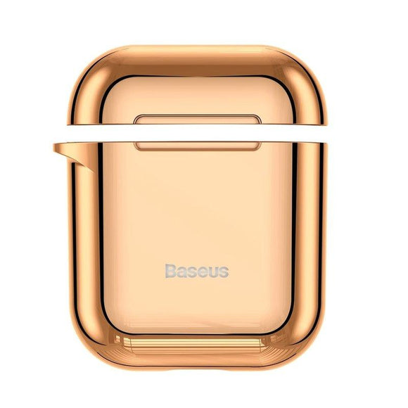 Husa Apple Airpods Baseus Shining Hook Cu Carabina Metalica De Prindere Gold - Trendmobile