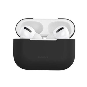 Husa Apple AirPods Pro Baseus Super Thin Carcasa Silicon Negru - Trendmobile