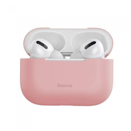 Husa Apple AirPods Pro Baseus Super Thin Carcasa Silicon Pink - Trendmobile