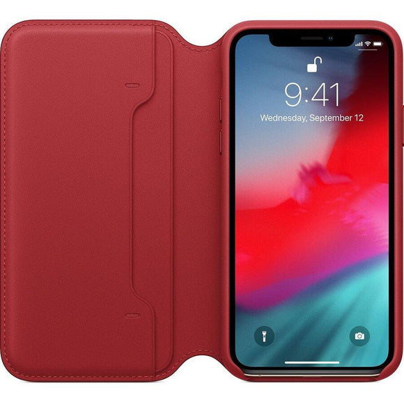 Husa Apple LEATHER FOLIO IPHONE X / XS Red Product MRWX2ZM/A - Trendmobile