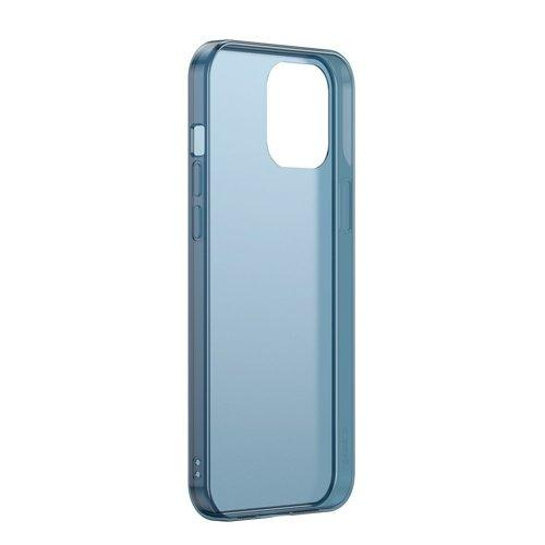 Husa Baseus Frosted Glass Case Hard case with a flexible frame iPhone 12 mini Navy blue - Trendmobile