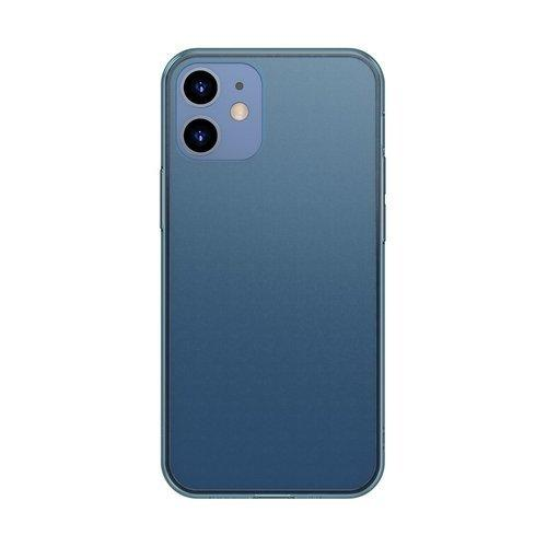 Husa Baseus Frosted Glass Case Hard case with a flexible frame iPhone 12 Pro Max Navy blue - Trendmobile