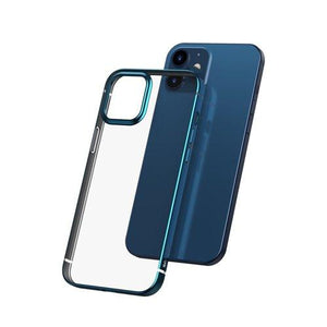Husa Baseus Shining Case Flexible gel case with a shiny metallic frame iPhone 12 mini Navy blue