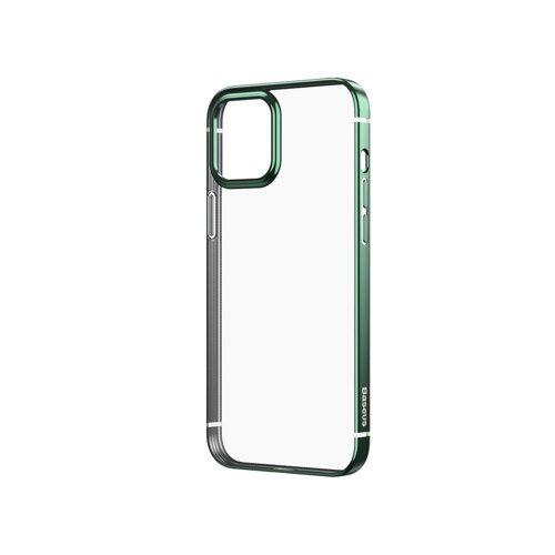 Husa Baseus Shining Case Flexible gel case with a shiny metallic frame iPhone 12 Pro Max Dark green