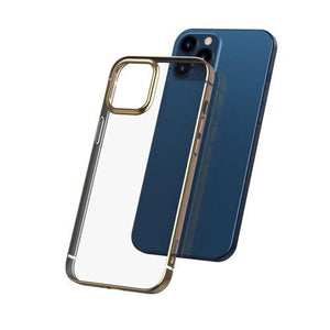 Husa Baseus Shining Case Flexible gel case with a shiny metallic frame iPhone 12 Pro Max Golden
