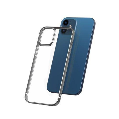 Husa Baseus Shining Case Flexible gel case with a shiny metallic frame iPhone 12 Pro Max Moonlight silver