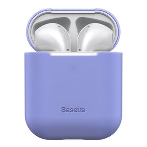 Husa BASEUS SILICONE CASE FOR HEADPHONES AIRPODS PURPLE
