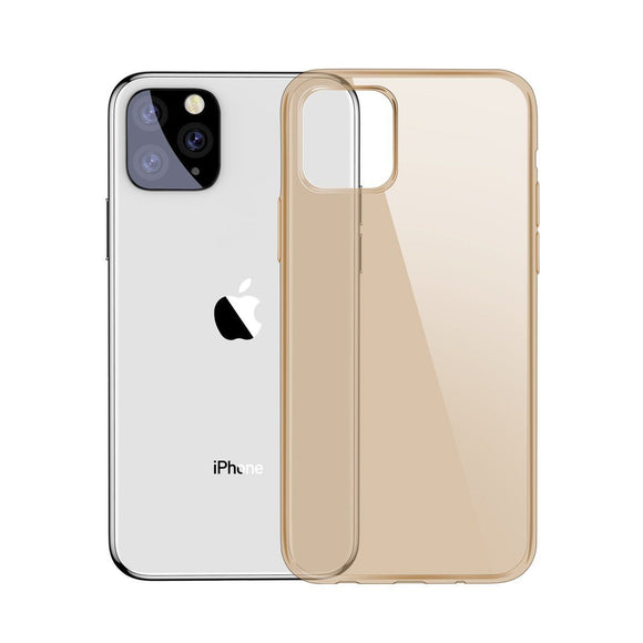 Husa  Baseus Simplicity Case pentru iPhone 11 Transparenta Gold - Trendmobile
