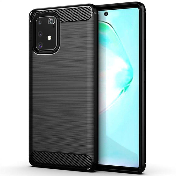 Husa Carbon Flexible pentru Samsung Galaxy S10 Lite  Black - Trendmobile