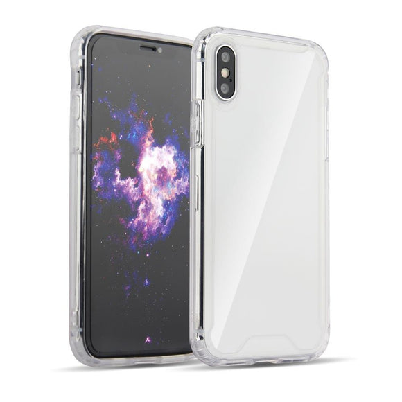 Husa Clear Armor PC Case with TPU Bumper for Samsung Galaxy A7 2018 A750 transparent - Trendmobile