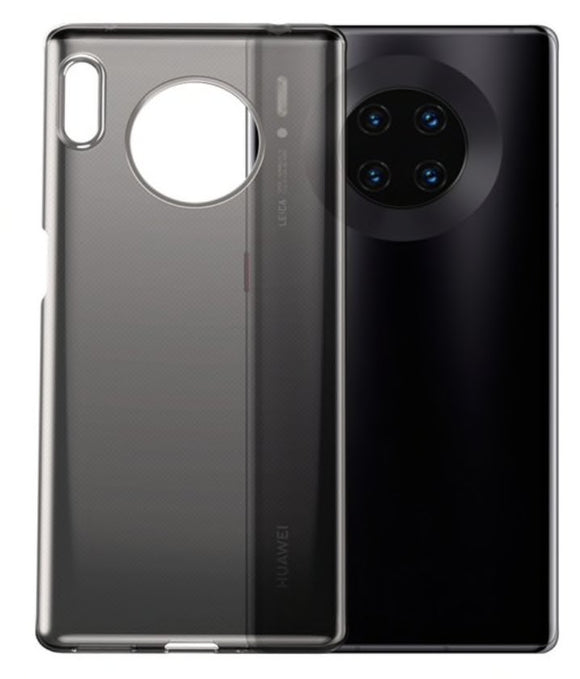 Husa de Silicon Huawei Mate 30 Pro Transparent Black - Trendmobile