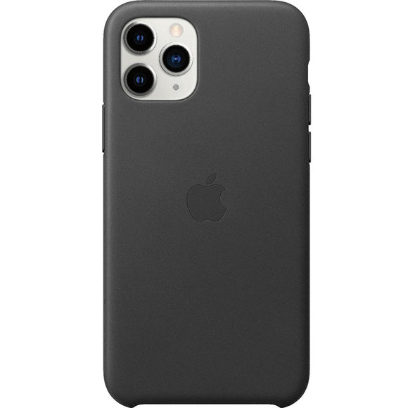 Husa din Piele pentru Apple iPhone 11 Pro Max Leather - Black - Trendmobile