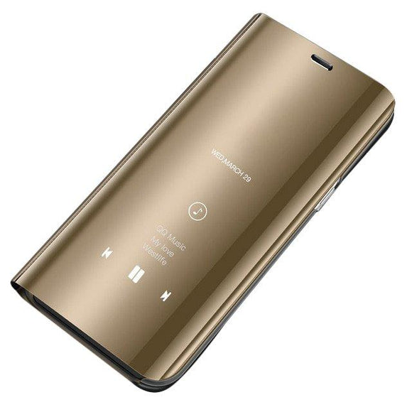 Husa Flip Mirror pentru Galaxy S9 Plus Gold - Trendmobile