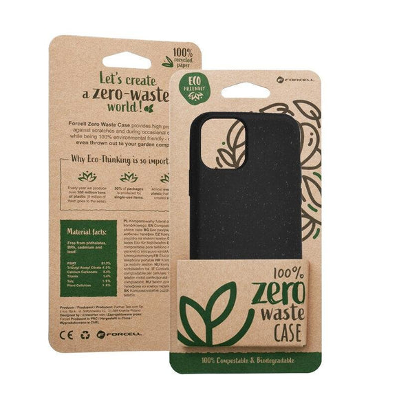 Husa Forcell BIO - Zero Waste Case for IPHONE XS Max black - Trendmobile