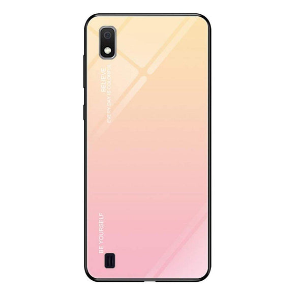 Husa Gradient Glass Samsung Galaxy A10 Pink - Trendmobile