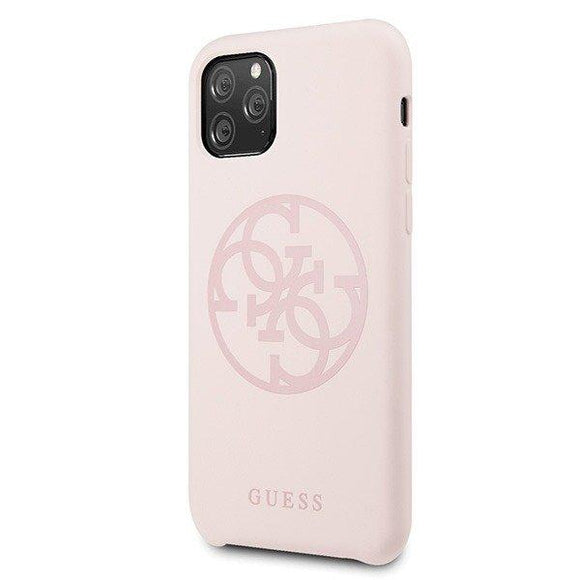 Husa GUESS HARD CASE SILICONE 4G TONE ON TONE IPHONE 11 PRO MAX PINK - Trendmobile