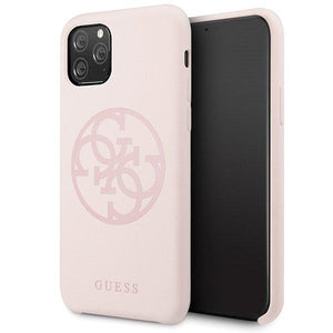 Husa Guess iPhone 11 Pro light pink hard case Silicone - Trendmobile