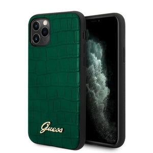 Husa GUESS IPHONE 11 PRO MAX GREEN CROCO COLLECTION - Trendmobile