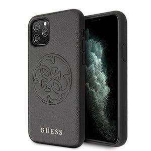 Husa Guess iPhone 11 Pro Max  hard case Saffiano 4G Circle Logo - Trendmobile