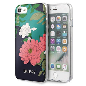 Husa Guess iPhone 7/8/SE 2020 black N°1 Flower Collection Shiny - Trendmobile