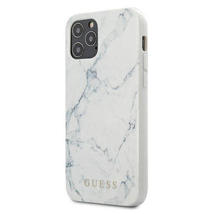 Husa GUESS MARBLE IPHONE 12 PRO/ 12 WHITE - Trendmobile