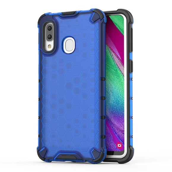Husa Honeycomb Samsung Galaxy A40 Blue - Trendmobile
