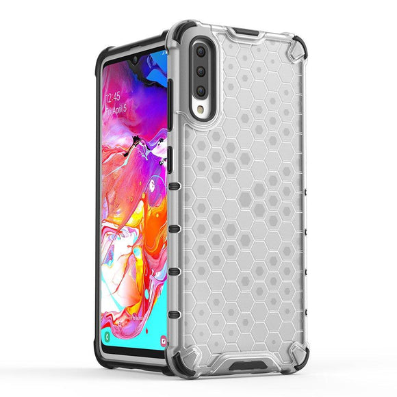 Husa Honeycomb Samsung Galaxy A70 Transparent - Trendmobile