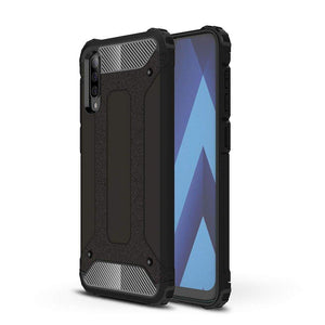 Husa Hybrid Armor Case Tough Rugged Cover for Samsung Galaxy A70 black - Trendmobile