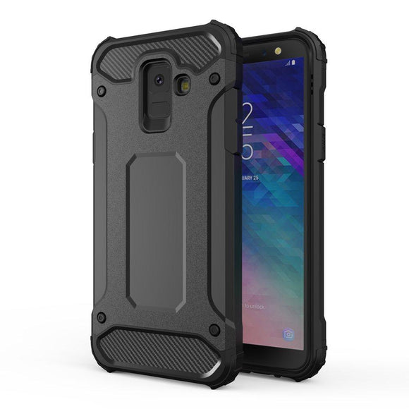 Husa Hybrid Armor Case Tough Rugged Cover pentru Samsung Galaxy A6 2018 Black - Trendmobile