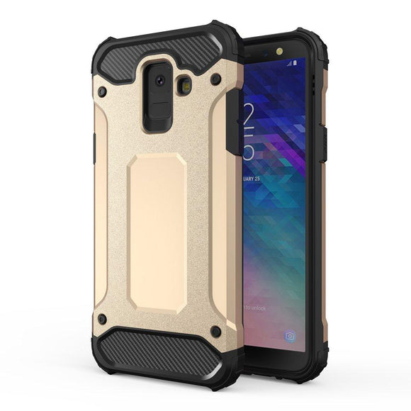 Husa Hybrid Armor Case Tough Rugged Cover pentru Samsung Galaxy A6 2018 Gold - Trendmobile